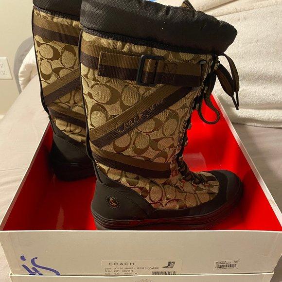Coach Snow Boots Size 6.5